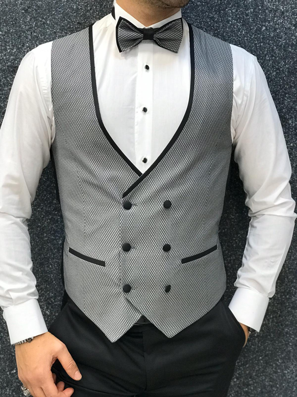 Gray Wedding Tuxedo by GentWith.com with Free Worldwide Shipping