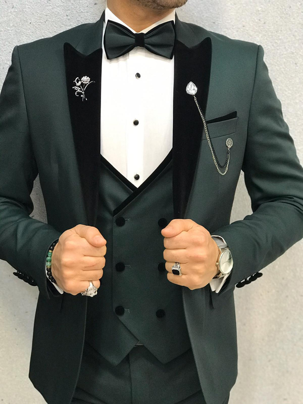 Green Wedding Tuxedo by GentWith.com with Free Worldwide Shipping