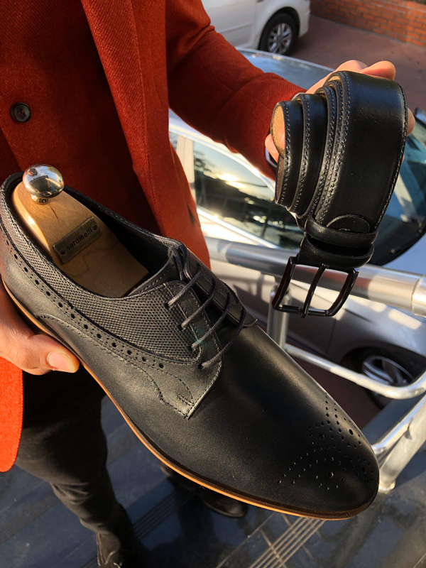 Black Derby by GentWith.com with Free Worldwide Shipping