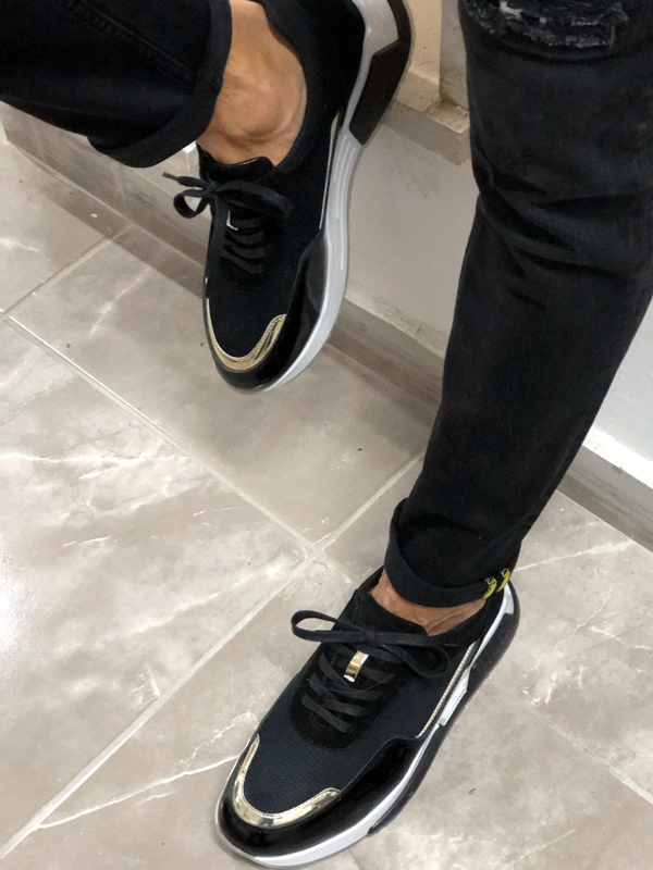 Black Sneakers by GentWith.com with Free Worldwide Shipping
