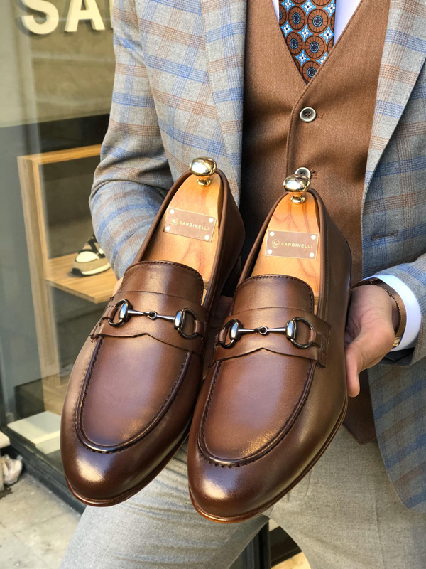 Brown Leather Loafer by GentWith.com with Free Worldwide Shipping