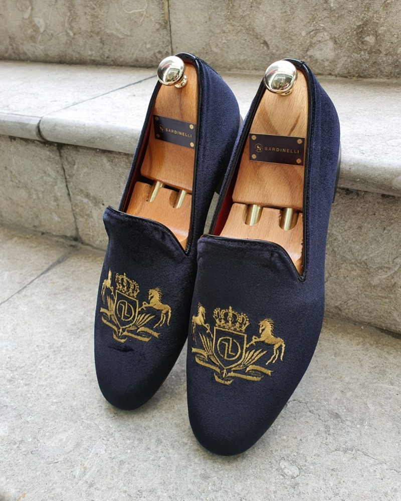 Black Velvet Slippers by GentWith.com with Free Worldwide Shipping