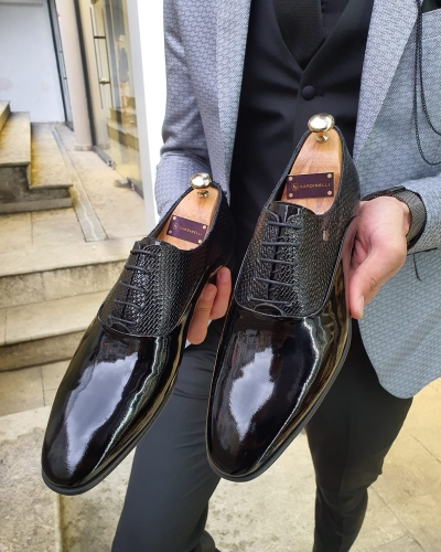 Black Laced Oxford by GentWith.com with Free Worldwide Shipping