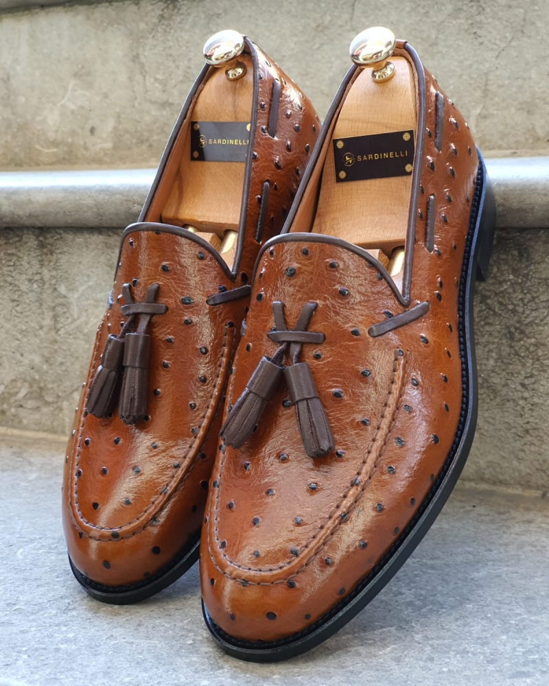 Brown Tassel Loafer by GentWith.com with Free Worldwide Shipping