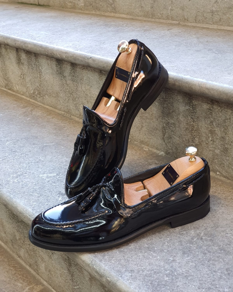 Black Classic Tassel Loafer by GentWith.com with Free Worldwide Shipping