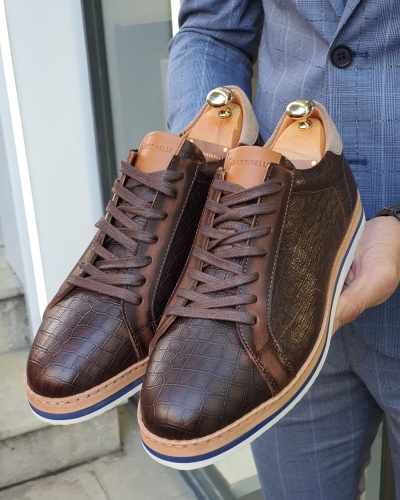Brown Lace Up Shoes by GentWith.com with Free Worldwide Shipping