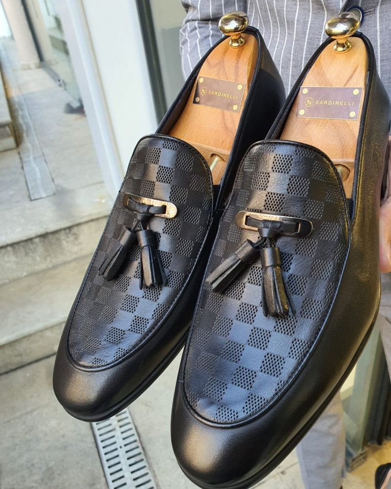 Black Tassel Loafer by GentWith.com with Free Worldwide Shipping
