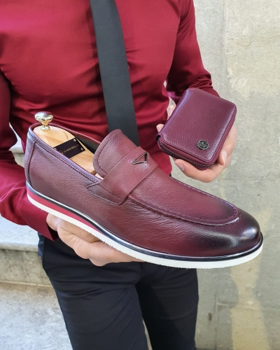 Burgundy Buckle Loafer by GentWith.com with Free Worldwide Shipping