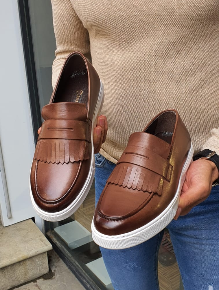 GentWith Pierre Brown Kilt Loafers (1)