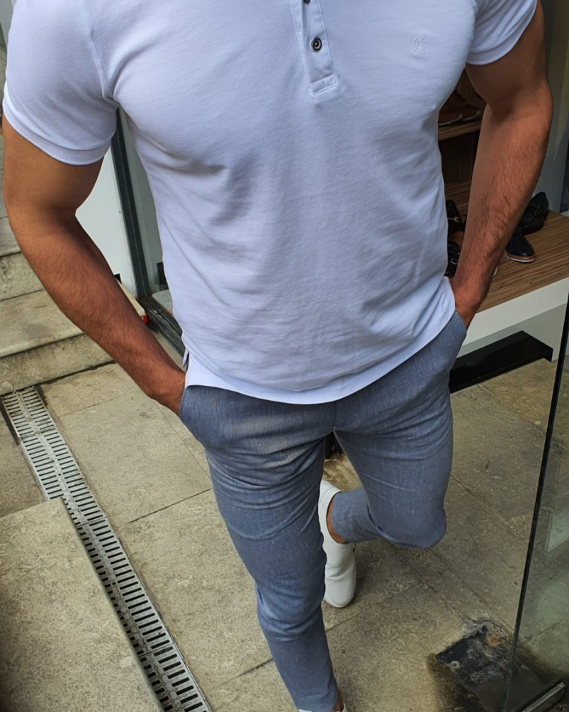 White Cotton TShirt by GentWith.com with Free Shipping