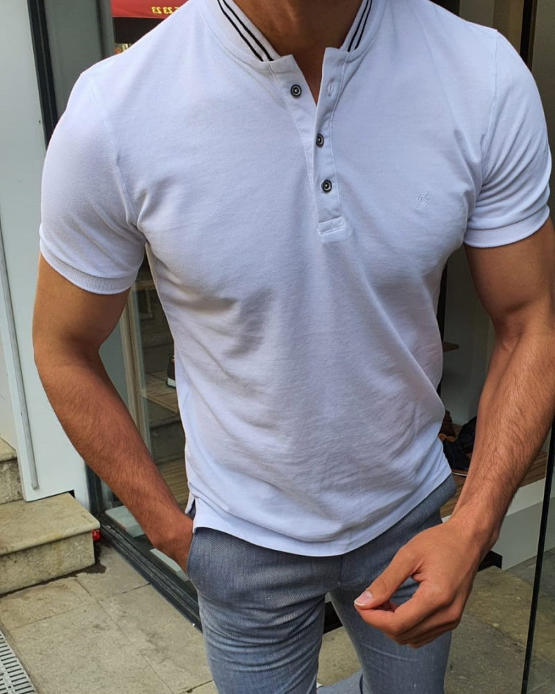 White TShirt by GentWith.com with Free Shipping