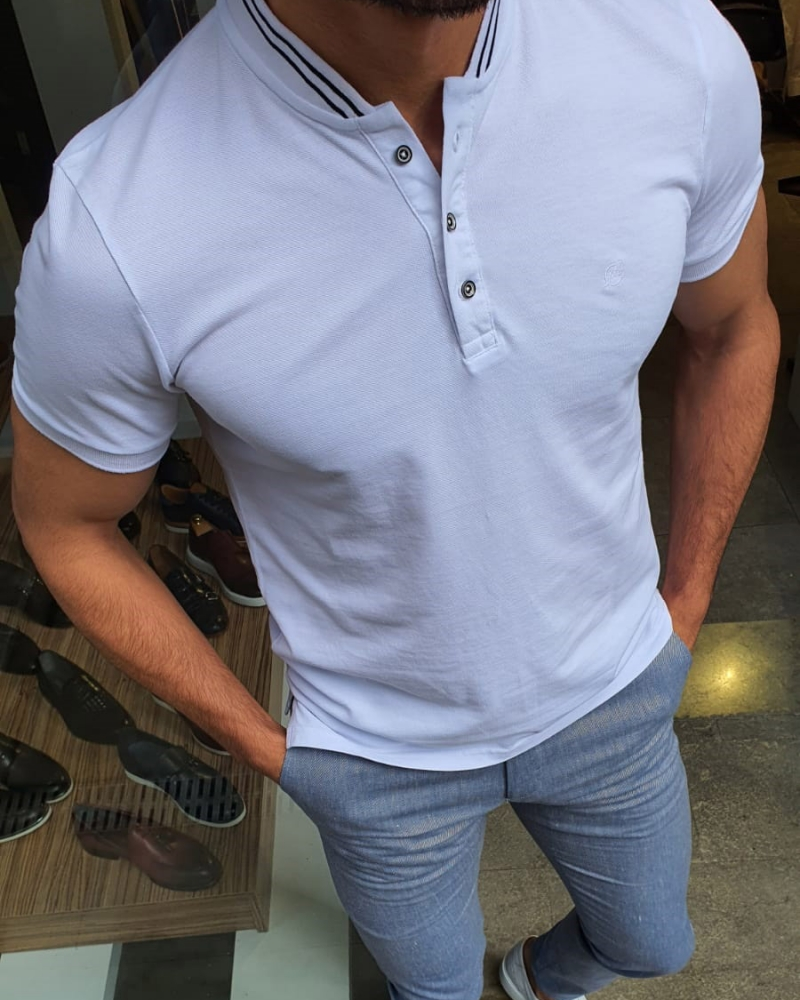 White Slim Fit TShirt by GentWith.com with Free Shipping