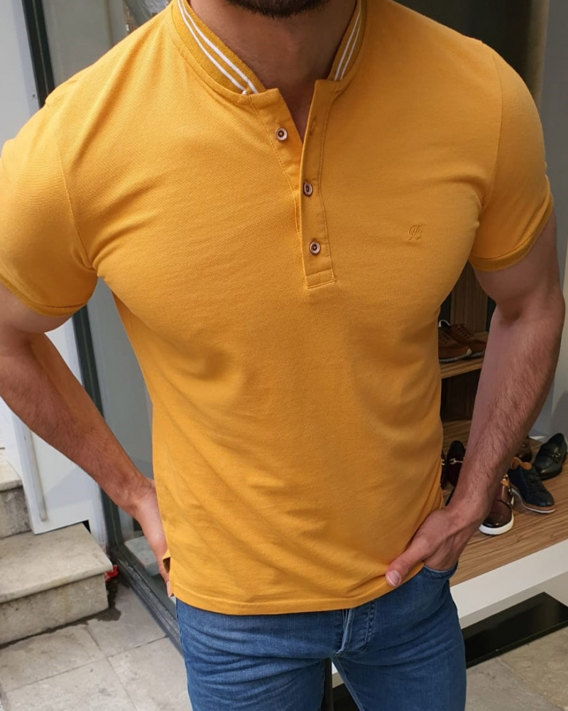 Yellow Cotton TShirt by GentWith.com with Free Shipping