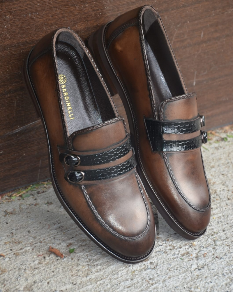 Brown Buckle Loafer by GentWith.com with Free Worldwide Shipping