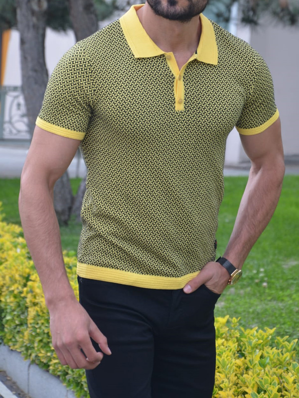 Khaki Slim Fit Polo T-Shirt by GentWith.com with Free Worldwide Shipping
