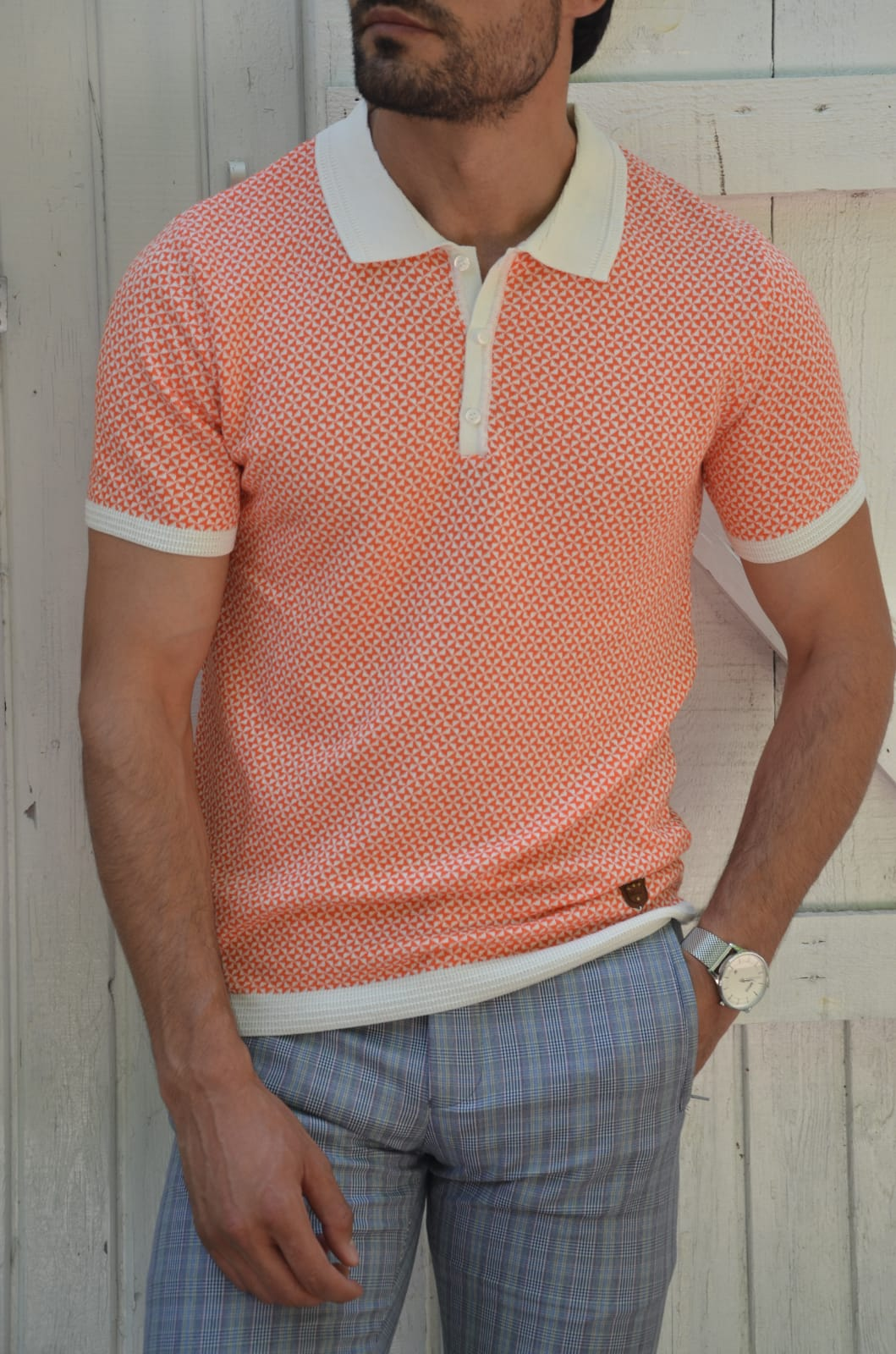 Pink Slim Fit Polo T-Shirt by GentWith.com with Free Worldwide Shipping