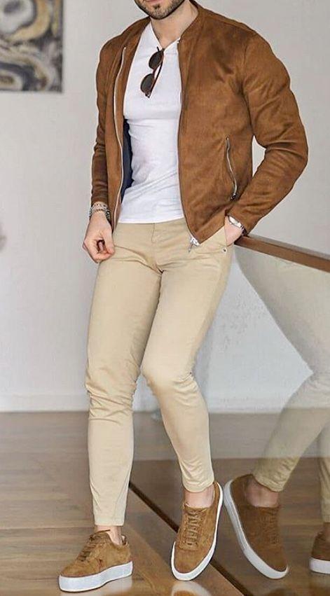 Mens Tan jeans