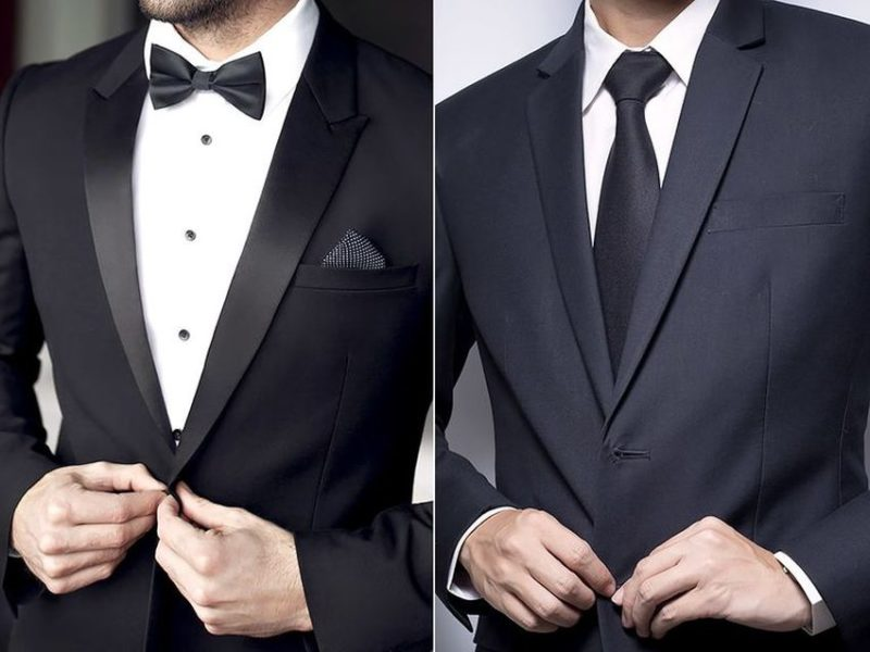 The Difference between a suit and a Tuxedo