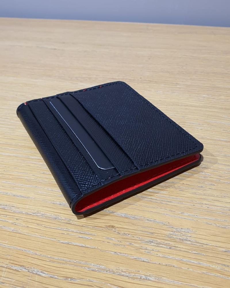 Black Leather Card Holder for Men by GentWith.com with Free Worldwide Shipping