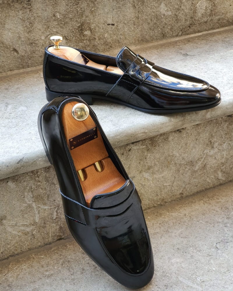 Black Buckle Loafers for Men by GentWith.com with Free Worldwide Shipping