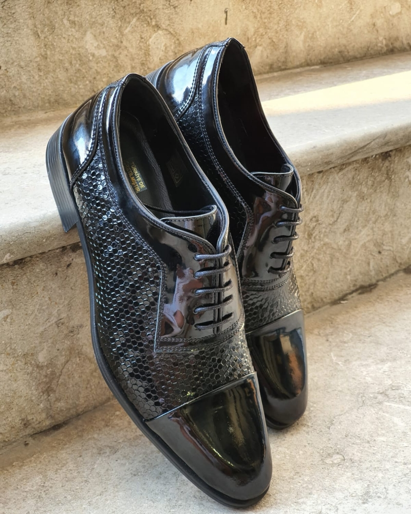 Black Wholecut Derbies for Men by GentWith.com with Free Worldwide Shipping