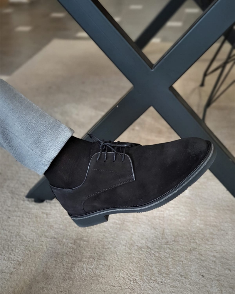 Black Suede Derbys by GentWith.com with Free Worldwide Shipping
