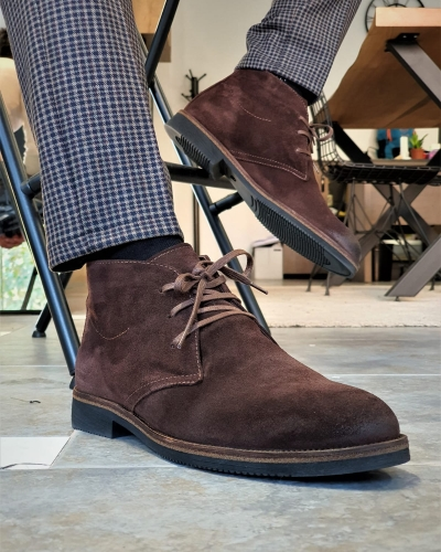 Brown Suede Chukka Boots by GentWith.com with Free Worldwide Shipping