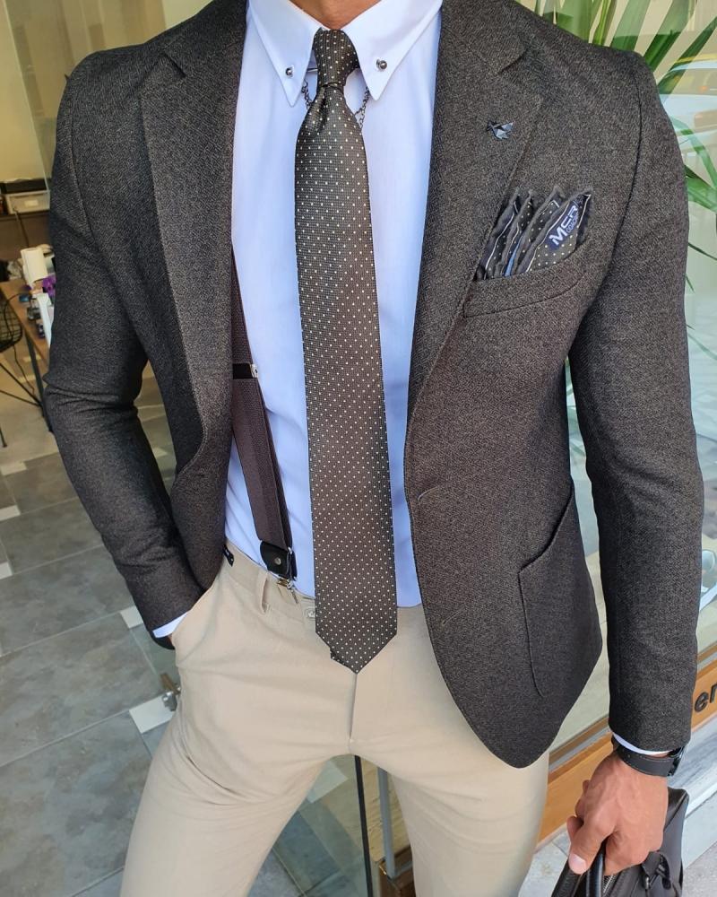 Khaki Neck Tie by GentWith.com with Free Worldwide Shipping