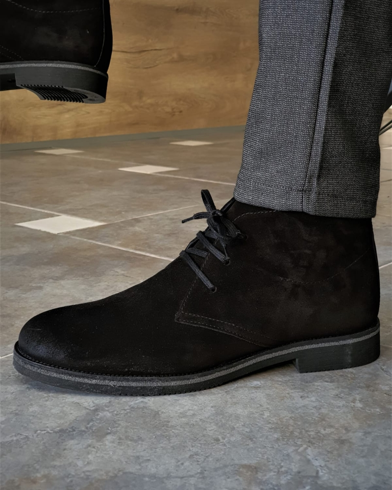 Black Suede Chukka Boots by GentWith.com with Free Worldwide Shipping