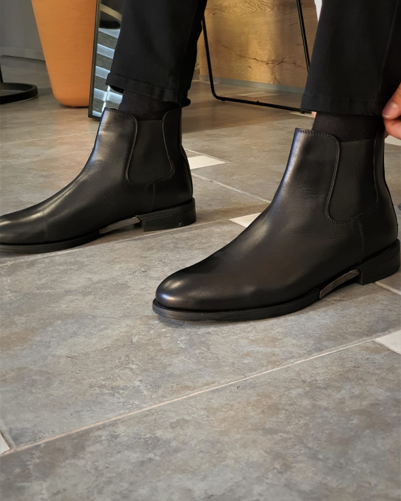 Black Chelsea Boots by GentWith.com with Free Worldwide Shipping