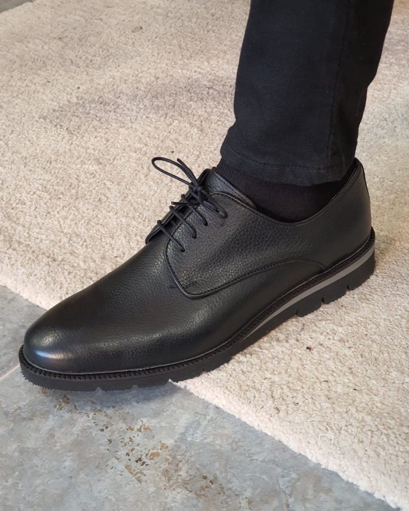Black Laced Boots by GentWith.com with Free Worldwide Shipping
