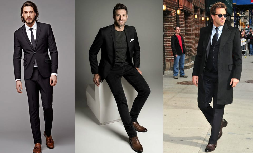 How to Wear Brown Shoes With a Black Suit or Trousers