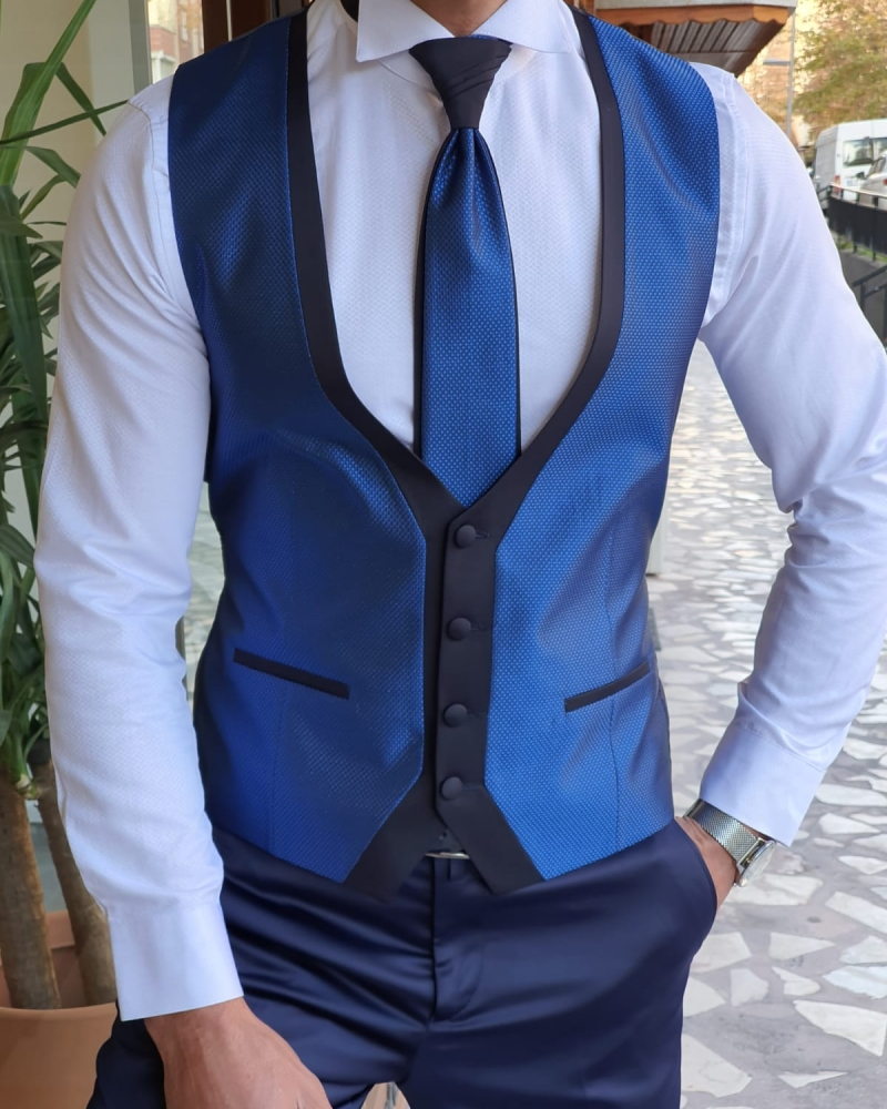 Blue Slim Fit Wedding Suit by GentWith.com with Free Worldwide Shipping