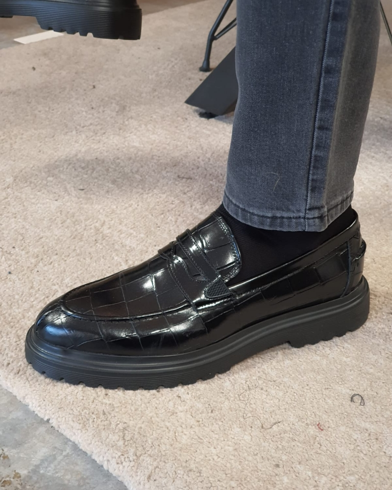 Black Buckle Loafers by GentWith.com with Free Worldwide Shipping