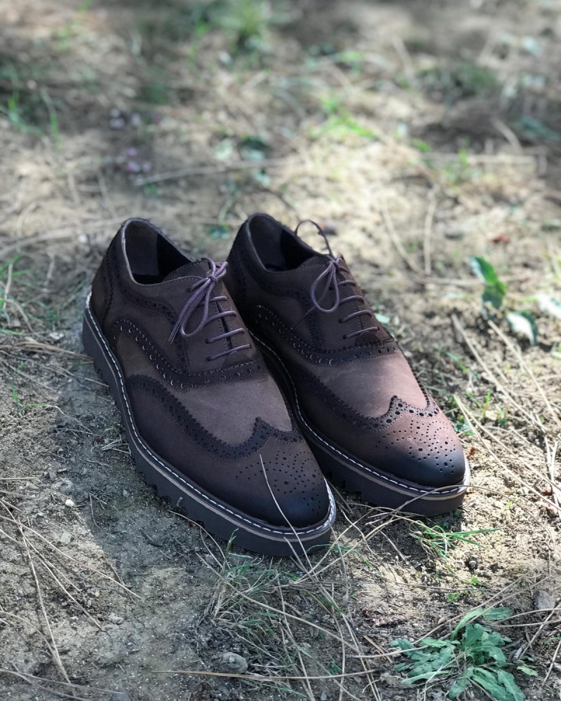 Black Leather Wingtip Oxfords by GentWith.com with Free Worldwide Shipping