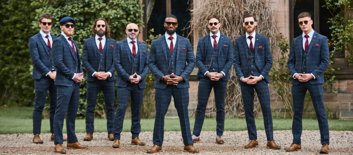 10 Dashing Grooms in Plaid & Tweed Jackets