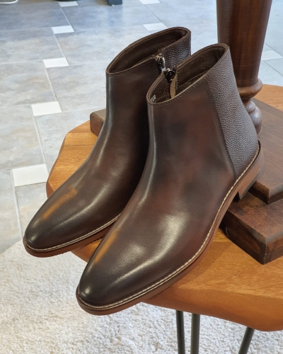 Brown Ankle Boots by GentWith.com with Free Worldwide Shipping
