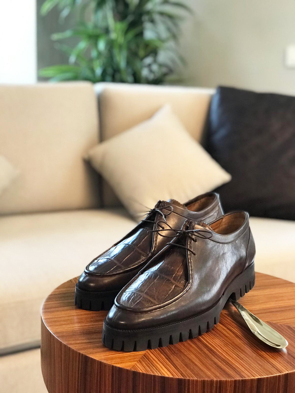 Brown Genuine Leather Boots by GentWith.com with Free Worldwide Shipping