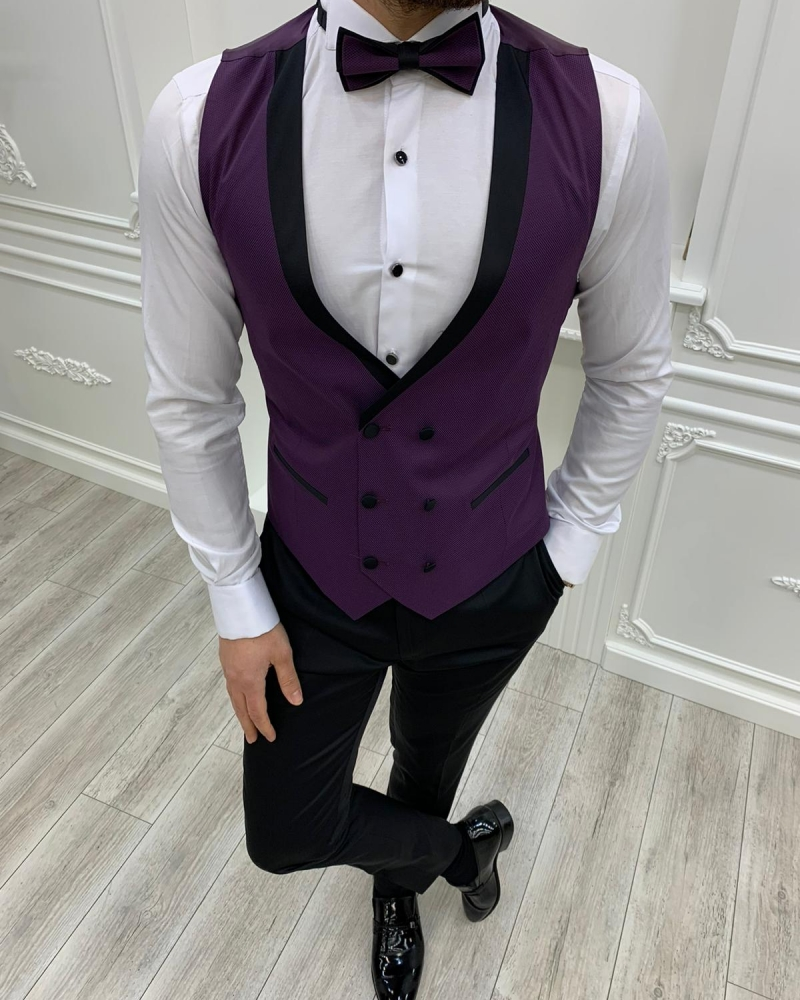 Purple Slim Fit Shawl Lapel Tuxedos by GentWith.com with Free Worldwide Shipping