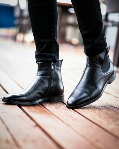 Black Ankle Boots by GentWith.com with Free Worldwide Shipping