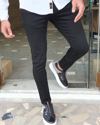 Black Slim Fit Jeans by GentWith.com with Free Worldwide Shipping
