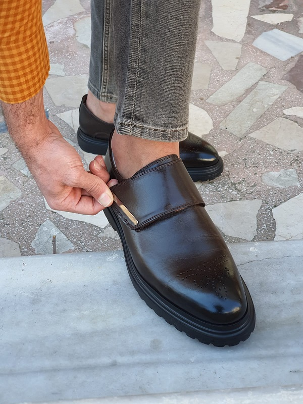 Brown Buckle Shoes by GentWith.com with Free Worldwide Shipping