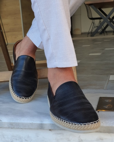 Black Slip-On Loafers by GentWith.com with Free Worldwide Shipping
