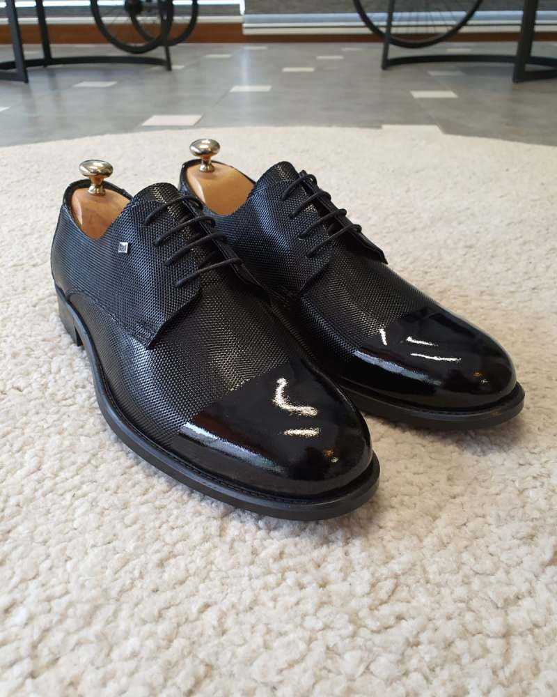 Black Derby for Men by GentWith.com with Free Worldwide Shipping