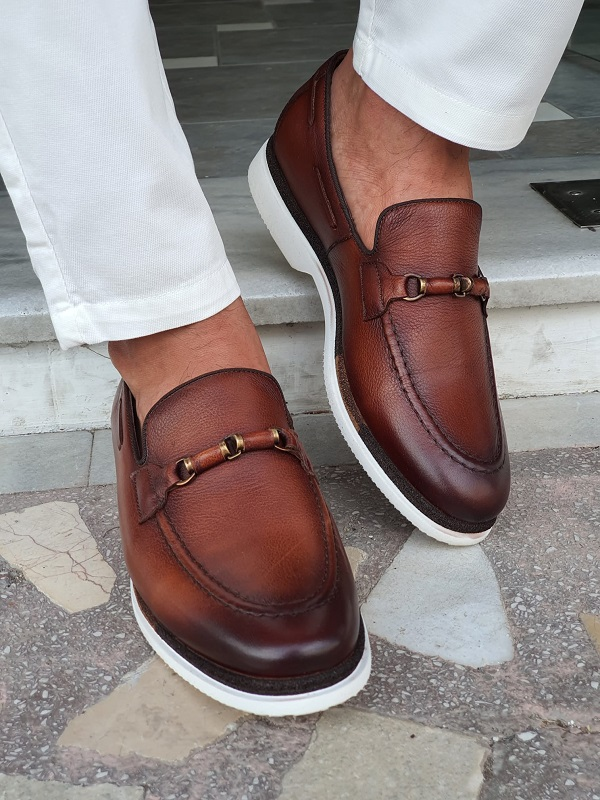 Brown Bit Loafers for Men by GentWith.com with Free Worldwide Shipping