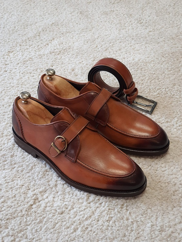 Tan Buckle Loafers for Men by GentWith.com with Free Worldwide Shipping
