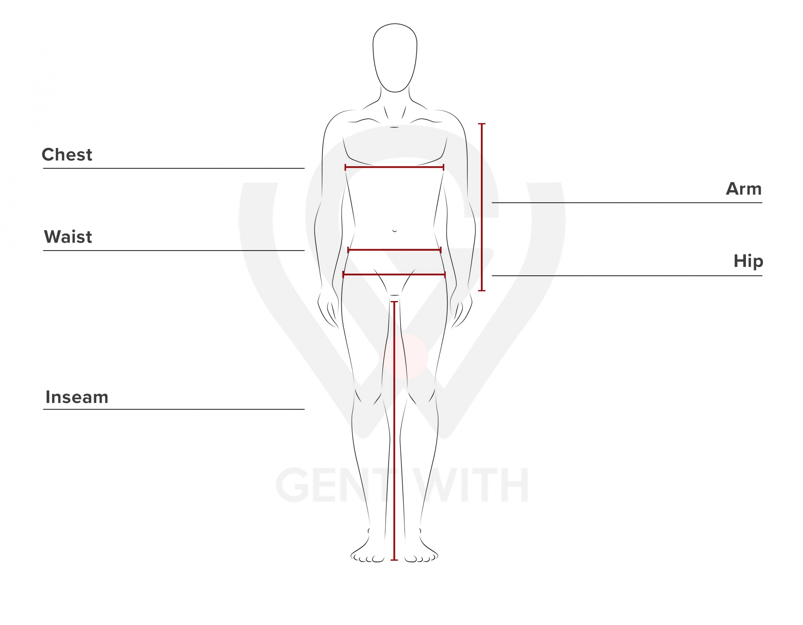 Men Suit Size Guide by GentWith.com