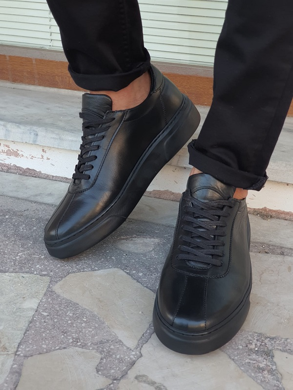 Black Laced Boots for Men by GentWith.com with Free Worldwide Shipping