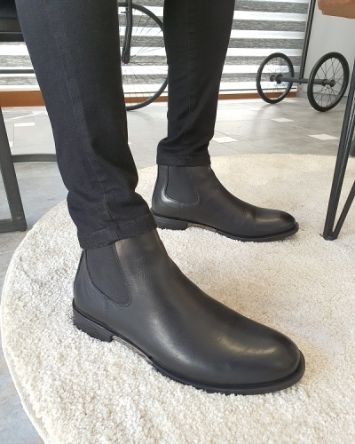 Black Chelsea Boots for Men by GentWith.com with Free Worldwide Shipping