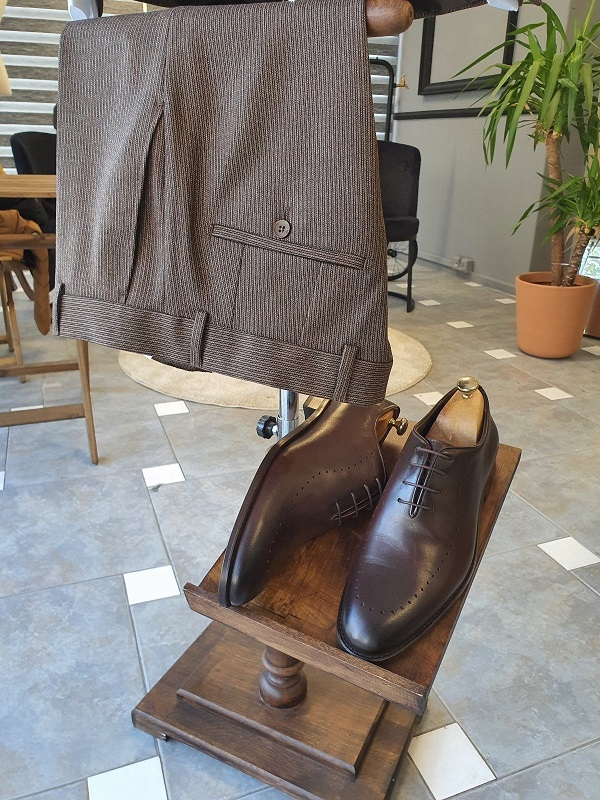 Brown Wholecut Oxfords for Men by GentWith.com with Free Worldwide Shipping